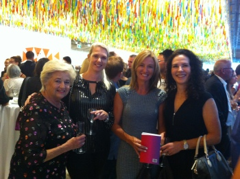 Joanna Chaplin, Kietha McLaren and Kriselle Baker at the Art Gallery of New South Wales Benefactor Launch of the 19th Biennale of Sydney.