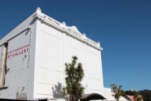 Facade of Govett-Brewster Art Gallery, New Plymouth, 02 February 2013 - 24 January 2014.