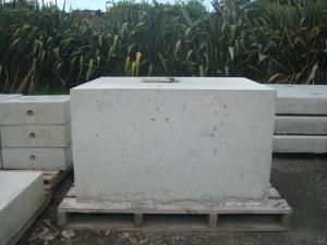 Howard's Precast Concrete, New Plymouth. 25 June 2013. (1.3m x 1.0m x 0.7m, 2.4 tonne)