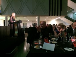 Rhana Davenport addressing the Walters Prize Dinner guests