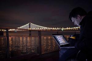 The Bay Lights, Bay Bridge, San Francisco