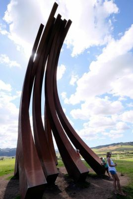 Benefactors with Bernar Venet, 88.5 arc x 8, 2012