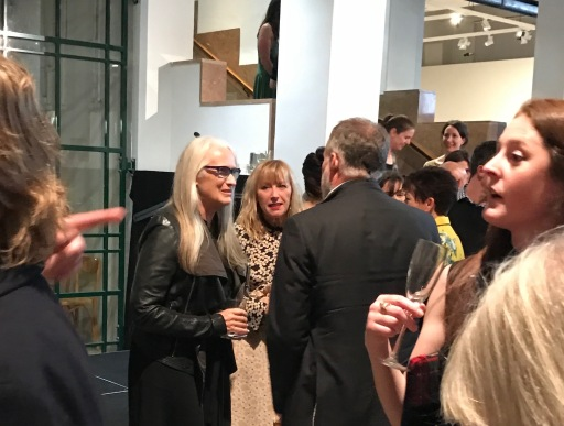 Dame Jane Campion with Cindy Sherman at the exhibition opening
